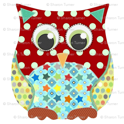 applique scrummy swatch owl for boys