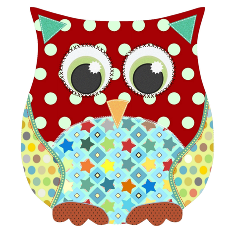 applique scrummy swatch owl for boys fabric by scrummy on Spoonflower - custom fabric