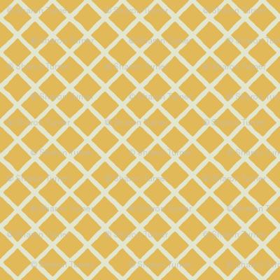 gold ivory little grid