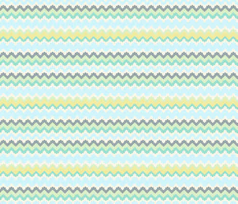 ZIGZAG BLUES fabric by trcreative on Spoonflower - custom fabric