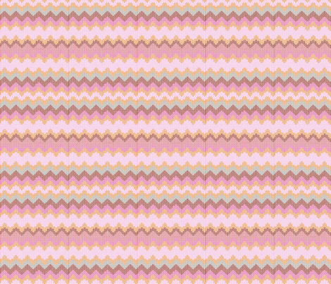 ZIGZAG BLUSH fabric by trcreative on Spoonflower - custom fabric