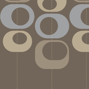 modern loops brown and gray