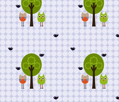 ModOwls fabric by natitys on Spoonflower - custom fabric