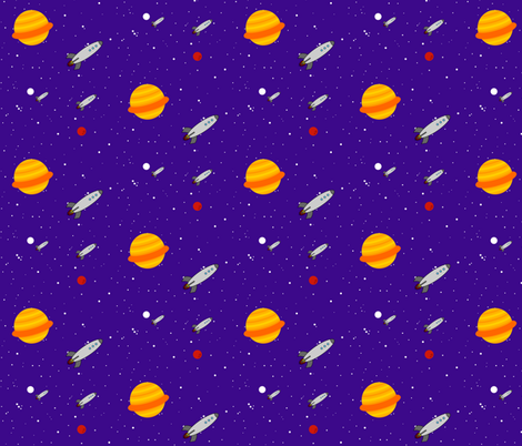 Space Patrol fabric by robyriker on Spoonflower - custom fabric