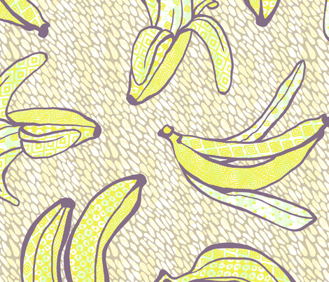 African Banana Smoothie fabric by miiwii on Spoonflower - custom fabric