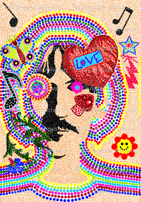 Hippy Love / pointillism