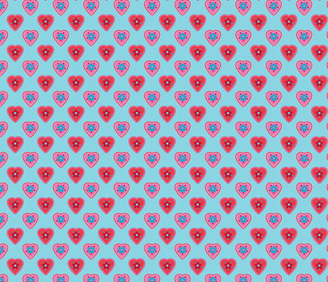 oh_mon_coeur_bleu fabric by nadja_petremand on Spoonflower - custom fabric