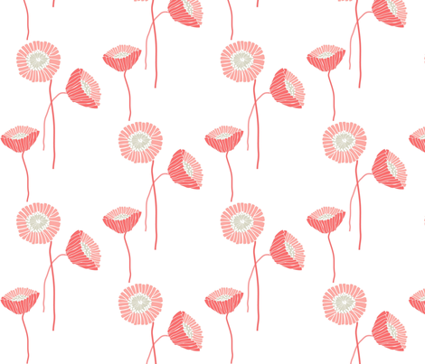 "POPPY in ""SHRIMP"" fabric by trcreative on Spoonflower - custom fabric"