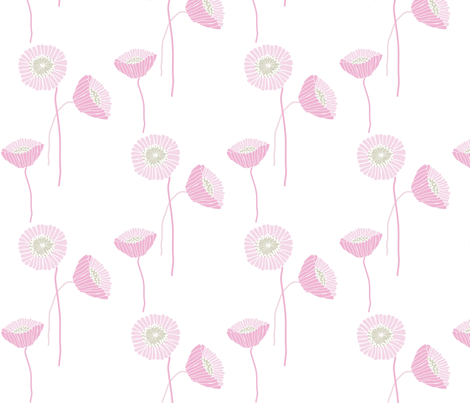 "POPPY in  ""PETAL"" fabric by trcreative on Spoonflower - custom fabric"