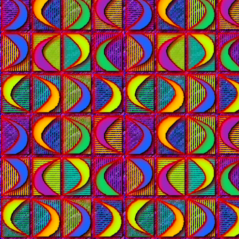 ©2011 moonspin fabric by glimmericks on Spoonflower - custom fabric