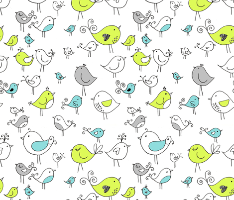 birddrawing fabric by meg56003 on Spoonflower - custom fabric