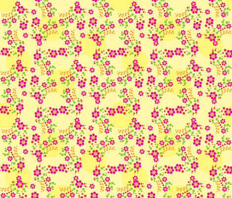 Bubbly Flowers fabric by robyriker on Spoonflower - custom fabric