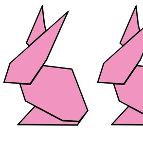 Pink origami ears