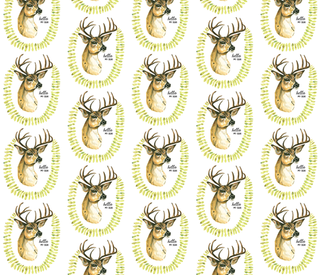 Hello Dear fabric by taraput on Spoonflower - custom fabric