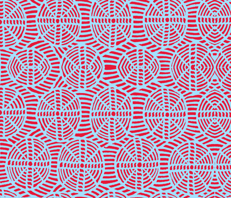 Circle and crosses fabric by paulamarie on Spoonflower - custom fabric