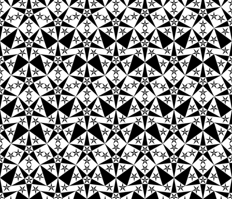 white_black_star fabric by janiris on Spoonflower - custom fabric