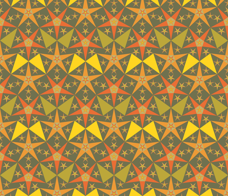orange_green_star fabric by janiris on Spoonflower - custom fabric