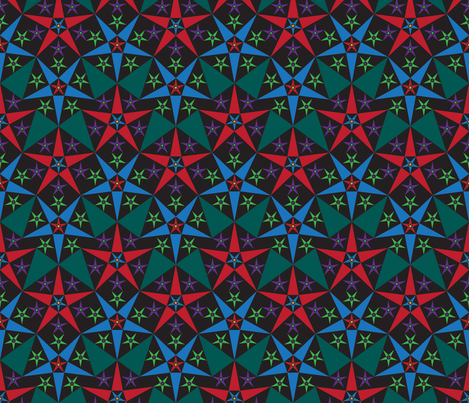 black_red_blue_star fabric by janiris on Spoonflower - custom fabric