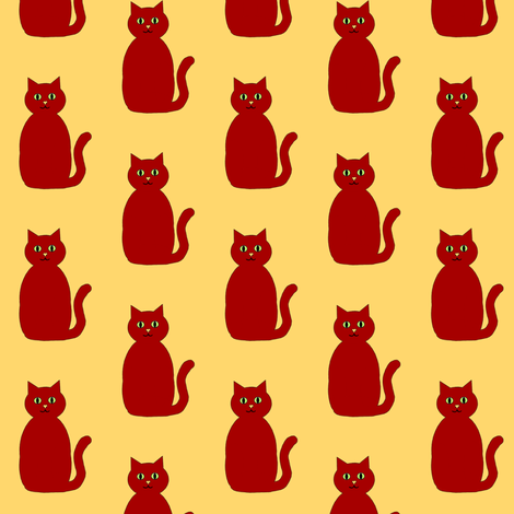Katze fabric by tiggermama on Spoonflower - custom fabric