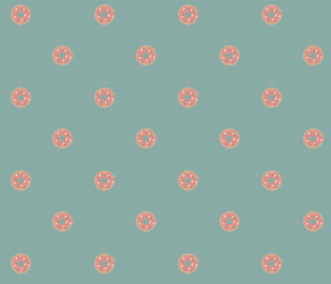 Pink Donut fabric by meliadawn on Spoonflower - custom fabric