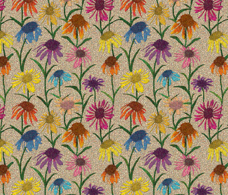 Coneflowers fabric by coloroncloth on Spoonflower - custom fabric