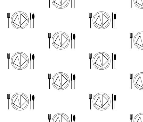 placesetting fabric by dawnams on Spoonflower - custom fabric