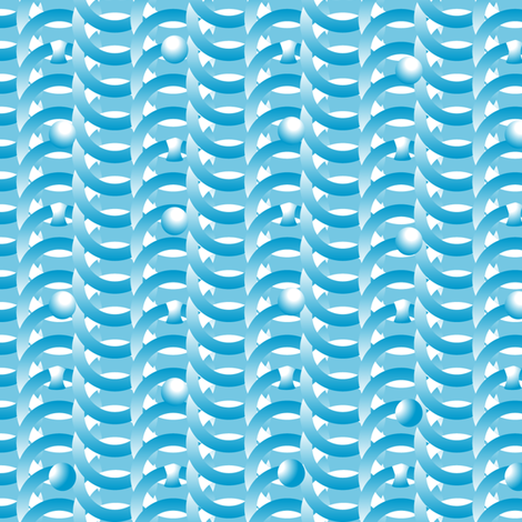 ©2011 waveform fabric by glimmericks on Spoonflower - custom fabric