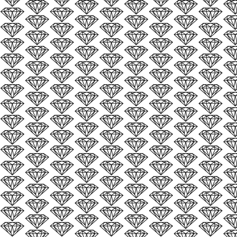diamond black&white fabric by ravynka on Spoonflower - custom fabric