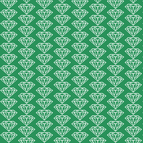 diamond green fabric by ravynka on Spoonflower - custom fabric