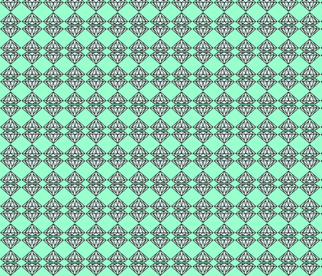 diamondfill mint fabric by ravynka on Spoonflower - custom fabric