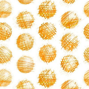 sketchy dots - orange on white