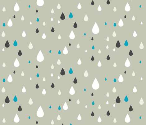 Retro drops - greys and blue fabric by ravynka on Spoonflower - custom fabric