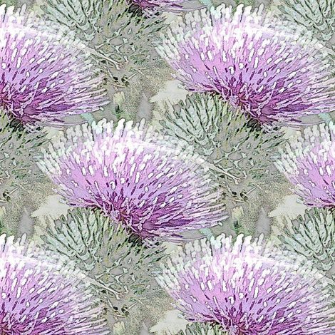Pale purple thistle fabric by vib on Spoonflower - custom fabric