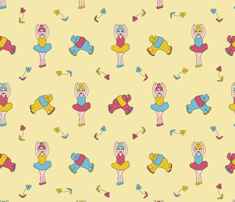 Ballerina Elephant fabric by jasmo on Spoonflower - custom fabric