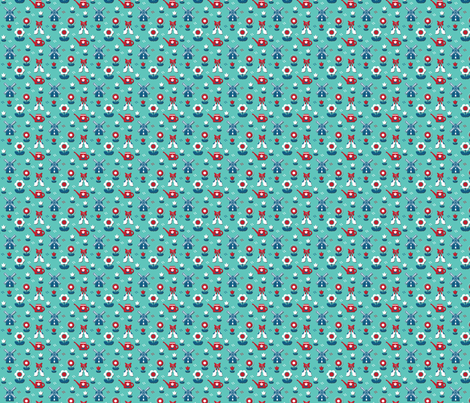 Dutch Ditzy fabric by pixeldust on Spoonflower - custom fabric