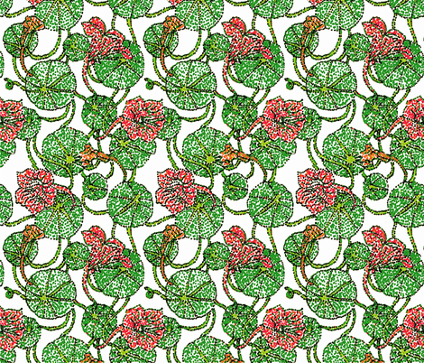 Nasturtiums fabric by kdl on Spoonflower - custom fabric