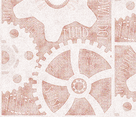 Gears of the Mind fabric by shyredfox on Spoonflower - custom fabric
