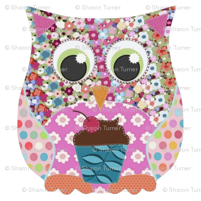 applique scrummy swatch owl for girls
