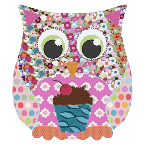 applique scrummy swatch owl for girls fabric by scrummy on Spoonflower - custom fabric
