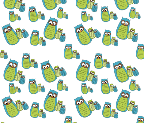 Owl Family fabric by meg56003 on Spoonflower - custom fabric