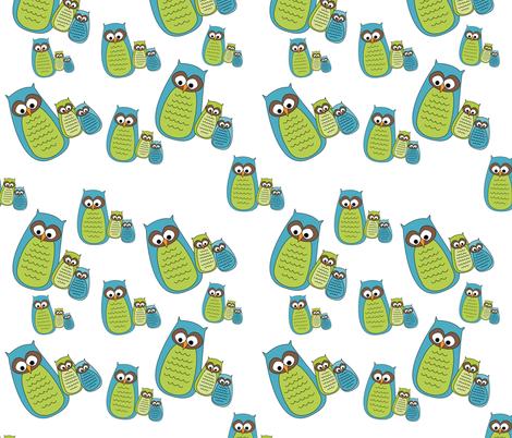 Owl Family fabric by meg56003 on Spoonflower - custom fabric