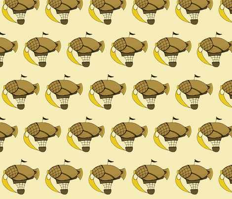 Little Brown Airships fabric by lilmissmaya on Spoonflower - custom fabric