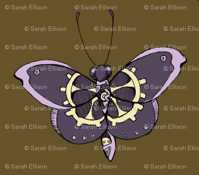 Clockwork Butterfly, Purple