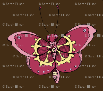 Clockwork Butterfly, Pink