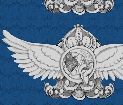 Large Dreampunk Crest fabric by lilmissmaya on Spoonflower - custom fabric