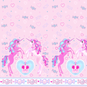 24 inch long Unicorn Fantasy Baby Pink Print