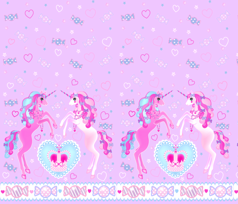 24 inch long Unicorn Fantasy Lavander Print fabric by pinkmacaroon on Spoonflower - custom fabric