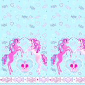 24 inch long Unicorn Fantasy Baby Blue Print