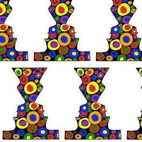 Colorful face vase 1
