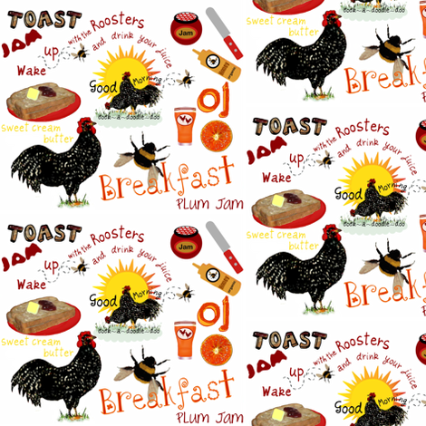 A Good Morning fabric by paragonstudios on Spoonflower - custom fabric